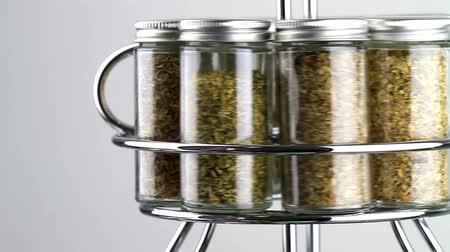 spice rack being used, spun
