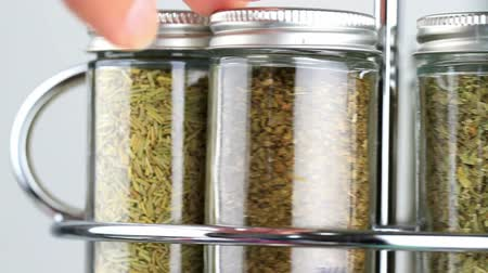 spice rack being used