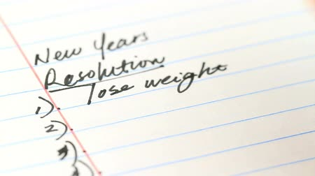 new years resolution list Stock mozgókép