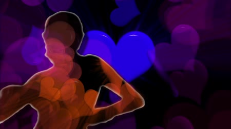 legal : Dancing girl with hearts background.