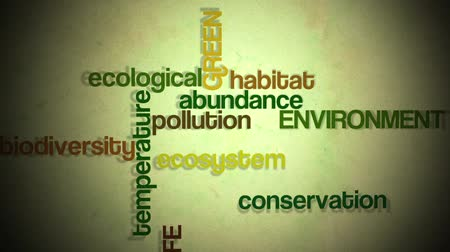 biodiversidade : Environmental and ecological text animation. Stock Footage