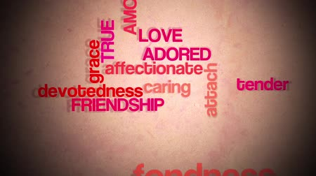 verdadeiro : Love and Freindship text animation.  Stock Footage