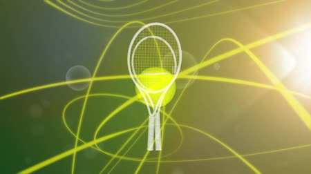Tennis tournament promo. Wideo