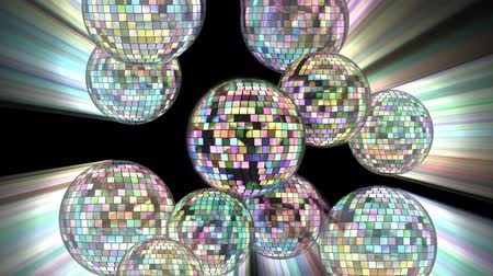 disko : Disco mirror balls 4k. Stok Video