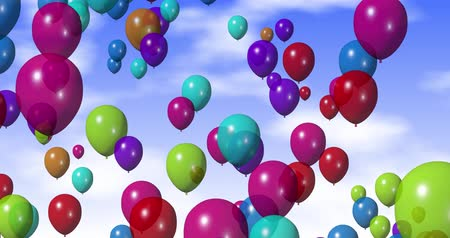 léggömb : Colorful Balloons 4k