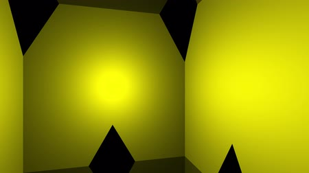 рэп : Geometrical 3d backdrop loop with yellow triangles. Стоковые видеозаписи
