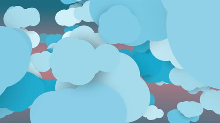 Cartoon clouds in motion looping