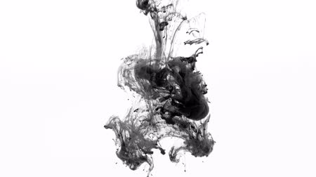 Black paint flow 4k Wideo