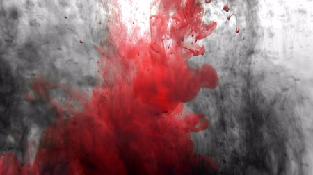 Red paint organic flow loop 4k.