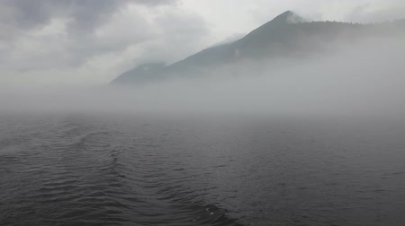 guangxi : Mountain disappears in the fog. Stock Footage