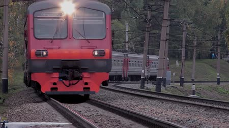 lokomotif :  Video Footage Passenger train Passenger train passes right next to the camera.