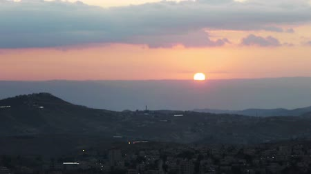 jesus born : Sun is rising in Bethlehem, time lapse.
