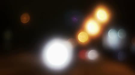 side window : Abstract defocused city street lights