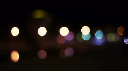 bok : Abstract defocused city street lights