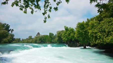 rzeka : Manavgat waterfall near Side in Turkey