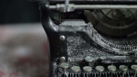text knihy : Close up video of antique typewriter