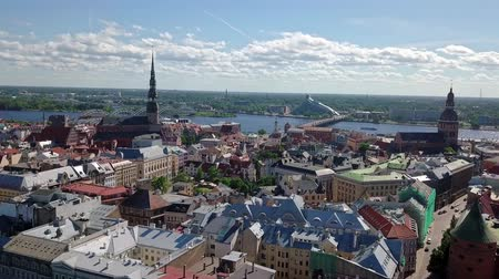fronts : Riga old town video Stock Footage