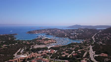 prestigious : Drone video - flying over Porto Cervo marina - Sardinia