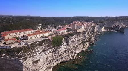 prestigious : Drone video - flying over Bonifacio marina - Corsica