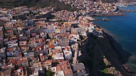 prestigious : Drone video - flying over Castelsardo city - Sardinia