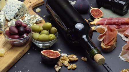 dorblu : Video of Traditional italian food and wine Stock Footage