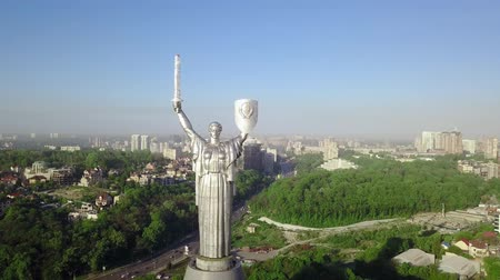 kard : Drone Video of Mother Motherland monument in Kiev, Ukraine