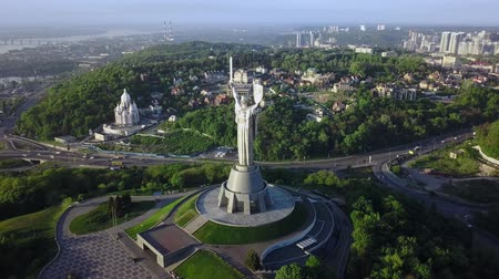 talapzat : Drone Video of Mother Motherland monument in Kiev, Ukraine