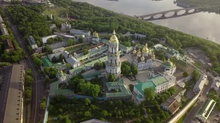 kiev : Aerial view of Kiev-Pechersk Lavra Ukrainian Orthodox Monastery