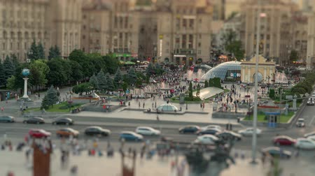 Khreshchatyk street and Independence Square in Kyiv Kiev