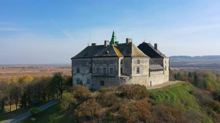 Aerial View of Haunted Castle of Olesko, Ukraine