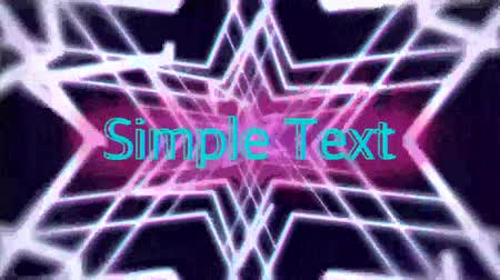 Animation Geometry Neon light colorful Glowing Frame with Simple Text.