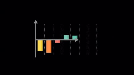 Animation 7 color bar chart on black background.