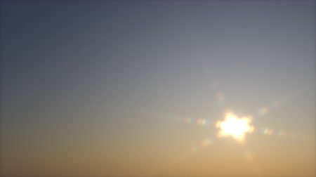 Net dawn. clear sky. movement of the sun. animation full hd