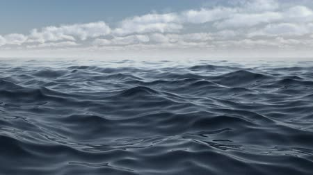 The waves of the blue sea animation in full hd Stok Video