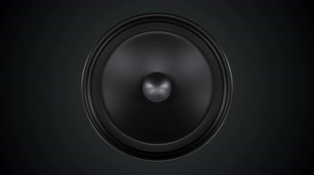 loud music : loud sound system. Isolated on a black background