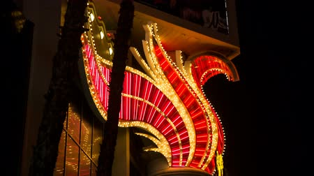 flaming : Red Neon Tube Design Casino Blinking Lights Wide. detail of a Las Vegas Casino neon lights and blinking bulbs
