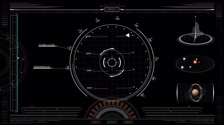 číslo : HUD Display Spacecraft Screen. element of an animated HUD display to apply over your own fotage