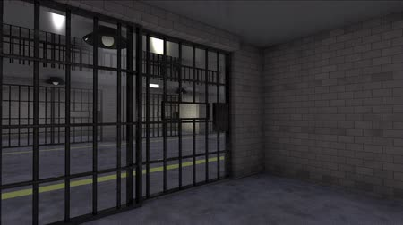 calçadão : Move Backward Into Prison Cell Close Door. an animation render of the perspective of someone going back into a cell and the door closes