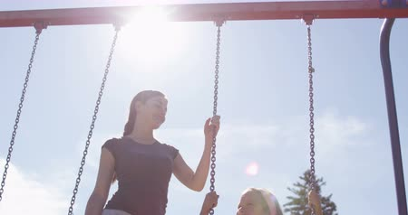 rocker : Playground girl Stock Footage