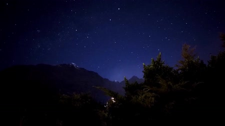 nouvelle zélande : Nouvelle-Zélande Queenstown Star Night Timelapse