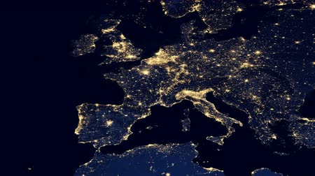anglia : Europe City Lights From Space - Night