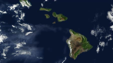 hawaii : Hawaii - Hawaiian Islands from space