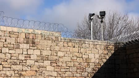 jailed : Prison Jail Gaol razor wire and security fence