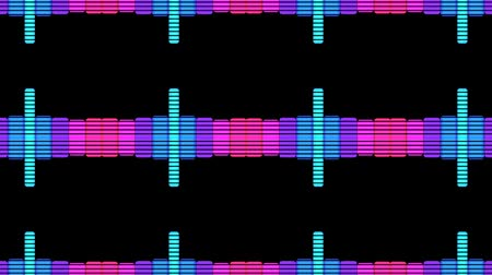 ekolayzer : VJ DJ Equalise Levels Graphic Background Stok Video
