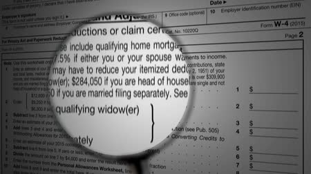 impostos : IRS 1040 income tax return under the magnifying glass