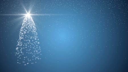 zimní : Xmas christmas tree holiday celebration winter snow animation blue background