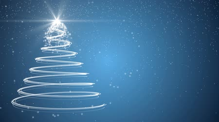 рождественская елка : Blue Christmas tree xmas holiday celebration winter snow animation background