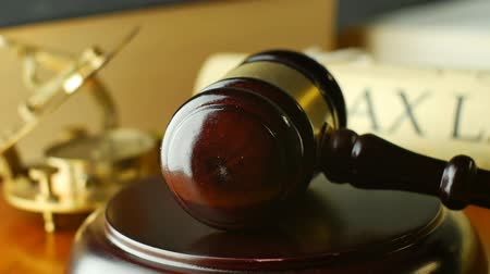 law enforcement : Tax Law justice litigation concept with gavel and hammer