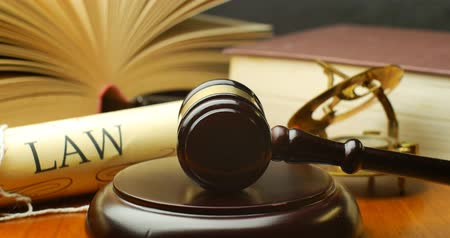 law enforcement : Law justice litigation concept with gavel and hammer