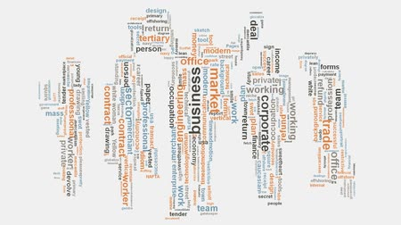 branding : Multinationale corporate business onderneming word cloud typografie animatie